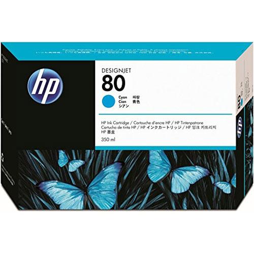 HP C4846A [HP 80 インクカートリッジ シアン350ml]