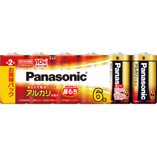 パナソニック LR14XJ/6SW [アルカリ乾電池単二形6P]