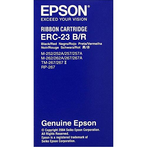 エプソン ERC-23BR [ミニプリンター用リボンカセット(黒/赤)]