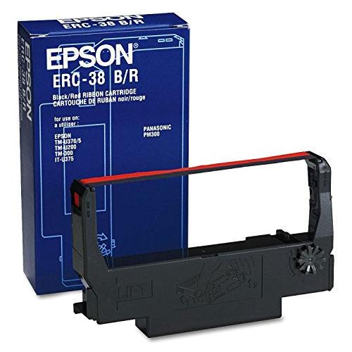 エプソン ERC-38BR [ミニプリンター用リボンカセット(黒/赤)]