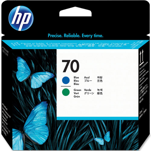 HP C9408A [HP 70 プリントヘッド ブルー/グリーン]