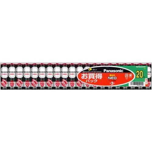 パナソニック R6PNB/20VSW [マンガン乾電池 ネオ黒 単3形20個パック シュリンクパック]