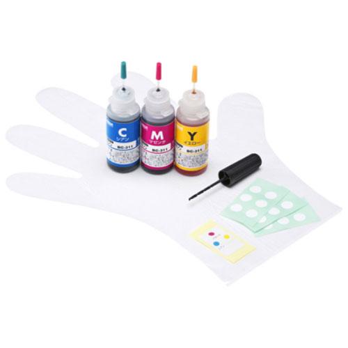 サンワサプライ INK-C311S30S [詰め替えインク (3色一体型・30ml) BC-311用]