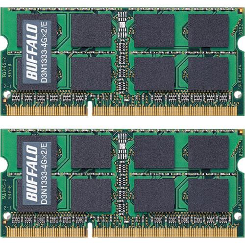D3N1333-4GX2/E [D3N1333相当 (白箱)5年保証 PC3-10600 DDR3-1333 4GB 2枚組]