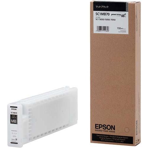エプソン SC1MB70 [SureColor用 インクカートリッジ/700ml(マットブラック)]