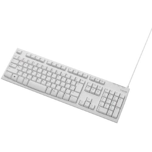 エレコム TK-FCM062WH [メンブレン式キーボード/108キー/USB/Lサイズ/ホワイト]