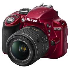 ニコン D3300 18-55 VR II レンズキット レッド[ボディ+交換レンズ「AF-S DX NIKKOR 18-55mm f/3.5-5.6G VR II」]
