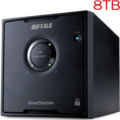 バッファロー HD-QH8TU3/R5 [ドライブステーション RAID 5対応 USB3.0用 外付けHDD 4ドライブモデル 8TB]