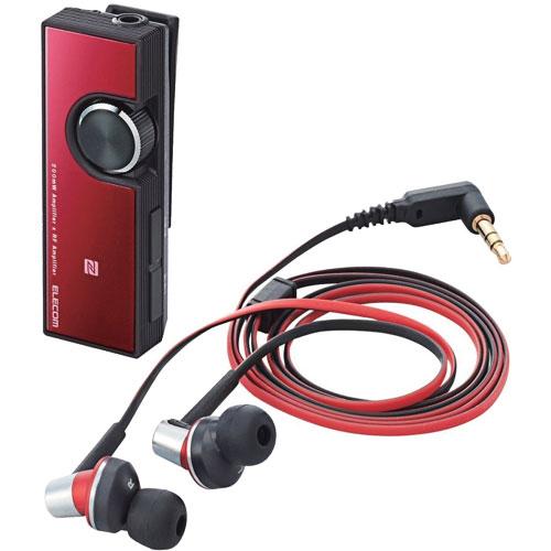 エレコム LBT-PHP500AVRD [Bluetooth/AV用ヘッドホン/レシーバ付/デュアルアンプ搭載/class1/レッド]