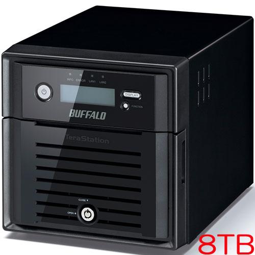 バッファロー TS5200D0802S [ACC One-Click NAS Configuration対応 管理者・RAID機能搭載2ドライブNAS 8TB]