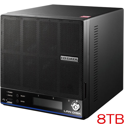アイオーデータ HDL2-H8 [「拡張ボリューム」採用 2ドライブビジネスNAS 8TB]
