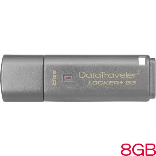 キングストン Kingston DataTraveler Locker+ G3 DTLPG3/8GB [8GB USB3.0メモリー DataTraveler Locker+ G3]