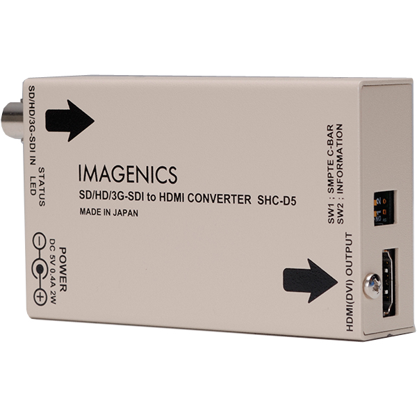 イメージニクス SHC-D5 [3G/HD/SD-SDI - DVI(HDMI)コンバータ]