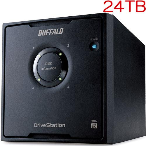 バッファロー DriveStation Pro HD-QH24TU3/R5 [RAID5対応 USB3.0 外付HDD 4ドライブ 24TB]