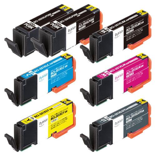 エレコム PLE-C351XL6P+BK [プレジール汎用インク/CANON/350351シリーズ6色+黒1]