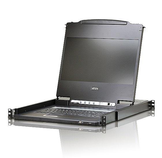 ATEN ATEN CL6700MWJJL [フルHD対応17.3インチLCDコンソールドロワー/ロングレール/DVI]