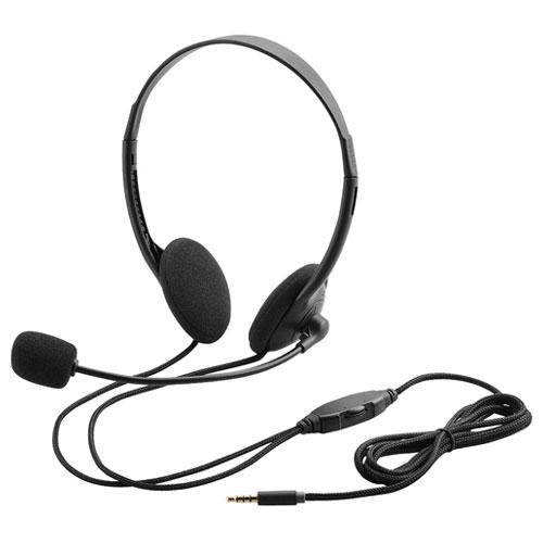 エレコム HS-HP22TBK [4極ヘッドセットマイク/両耳オーバーヘッド/1.8m/ブラック]