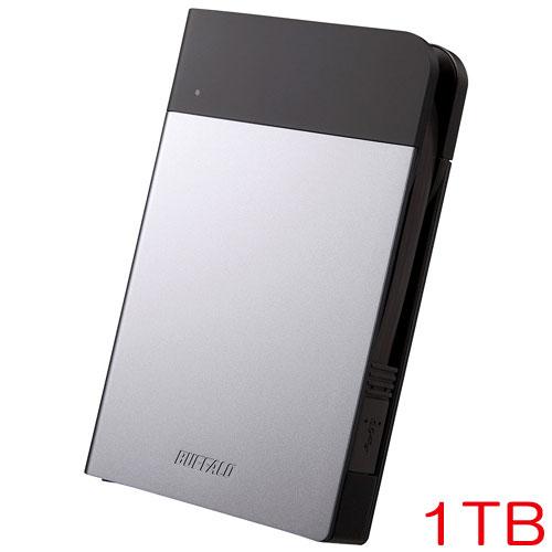 MiniStation HD-PZN1.0U3-S [ICカード対応 耐衝撃ポータブルHDD 1TB シルバー]