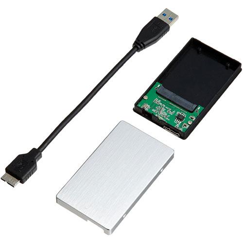 アユート PM-MSATAU3-SV [ProjectM mSATA SSD用UASP対応高速USB3.0ケース シルバー]