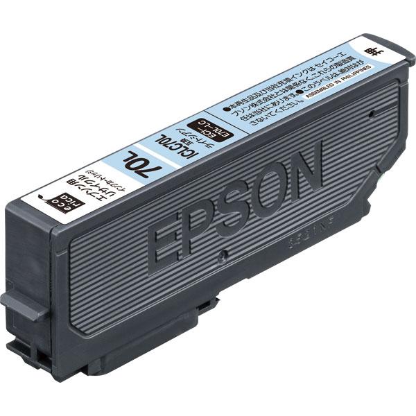エレコム ECI-E70L-LC [エコリカ リサイクルインク/EPSON/ICLC70L互換/ライトシアン]