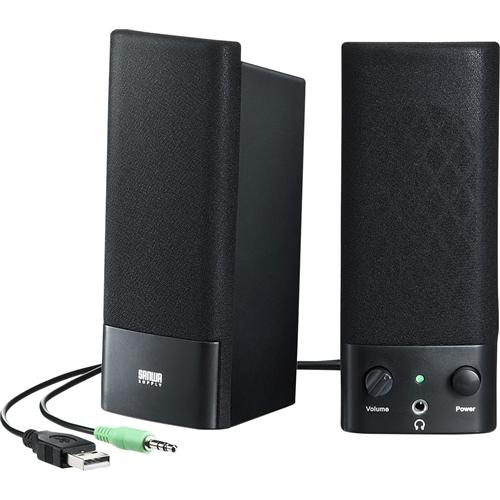 サンワサプライ MM-SPL2NU2 [USB電源マルチメディアスピーカー]