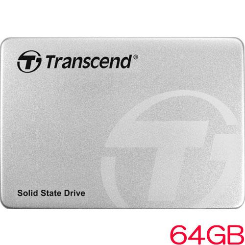 トランセンド TS64GSSD370S [64GB SSD370Sシリーズ 2.5インチ SATA3 MLC搭載 アルミ筐体]