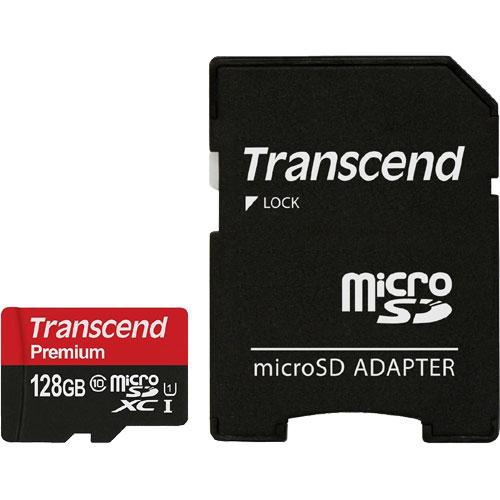 TS128GUSDU1 [microSDXC Class 10 UHS-I 400x (Premium) 128GB with adapter]