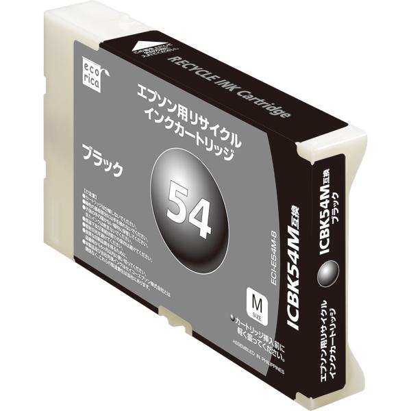 エレコム ECI-E54M-B [エコリカ リサイクルインク/EPSON/ICBK54M互換/ブラック]