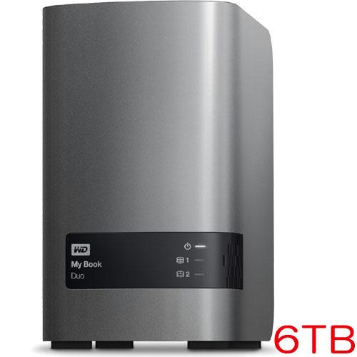 ウエスタンデジタル WDBLWE0060JCH-JESN [RAIDストレージ My Book Duo 6TB 3年保証]