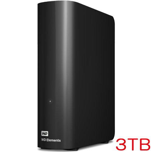 ウエスタンデジタル WDBWLG0030HBK-JESN [デスクトップHDD WD Elements 3TB 3年保証]
