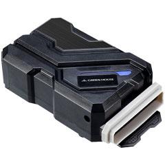 グリーンハウス GH-PCFB1-BK [吸気型USB接続ノートPCクーラー 1FAN ブラック]