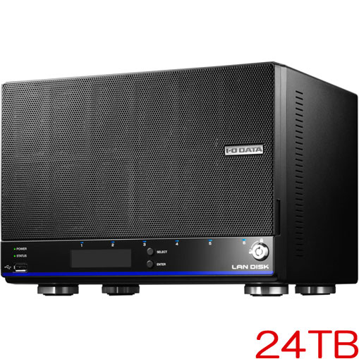 HDL4-HEX HDL4-H24EX [「拡張ボリューム」採用 4ドライブビジネスNAS 24TB]