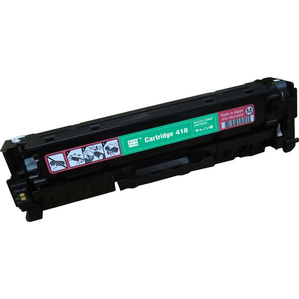 エレコム ECT-CCAT418M [エコリカ リサイクルトナー/CANON/CRG-418MAG対応]