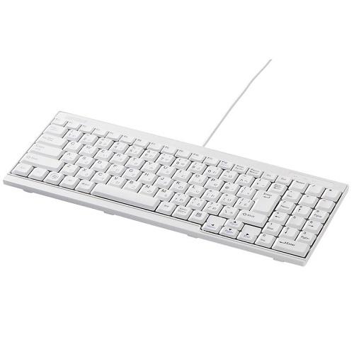 バッファロー(サプライ) iBUFFALO BSKBU14WH [USB接続 有線スリムキーボード ホワイト]