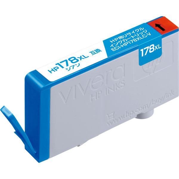 エレコム ECI-HP178XLC-V [リサイクルインク/HP/178XL/CB323HJ互換/シアン]