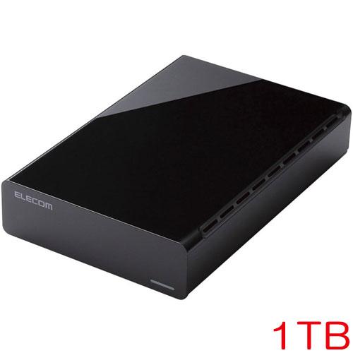エレコム ELD-CED010UBK [e:DISKデスクトップ USB3.0 1TB Black 法人専用]