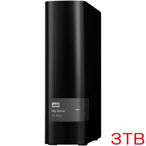 ウエスタンデジタル My Book for Mac WDBYCC0030HBK-JESN [Mac用外付HDD 3TB 3年保証]