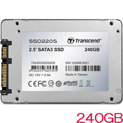 TS240GSSD220S [240GB SSD220Sシリーズ 2.5インチ SATA3 TLC搭載 アルミ筐体]