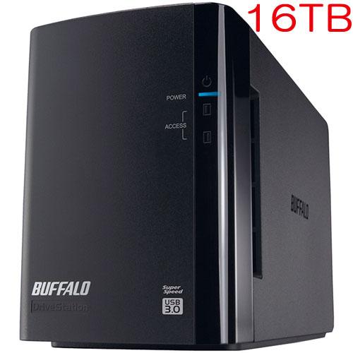 バッファロー DriveStation Pro HD-WH16TU3/R1-C [RAID1対応 USB3.0 外付HDD 2ドライブ 16TB]
