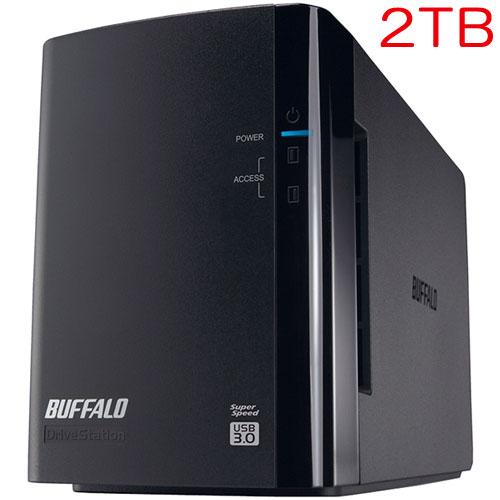 バッファロー DriveStation Pro HD-WH2TU3/R1-C [RAID1対応 USB3.0 外付HDD 2ドライブ 2TB]