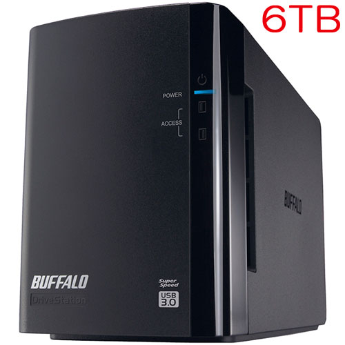 バッファロー DriveStation Pro HD-WH6TU3/R1-C [RAID1対応 USB3.0 外付HDD 2ドライブ 6TB]
