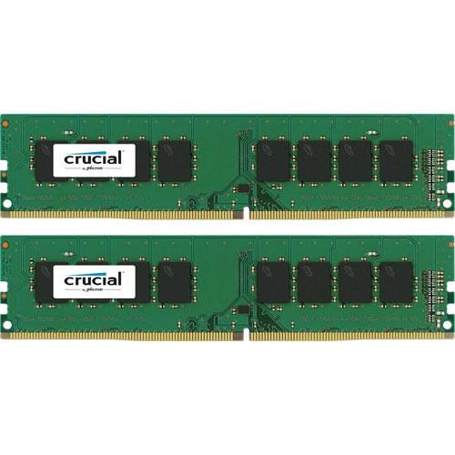 クルーシャル CT2K16G4DFD824A [32GB Kit (16GBx2) DDR4 2400 MT/s (PC4-19200) CL17 DR x8 Unbuffered DIMM 288pin]