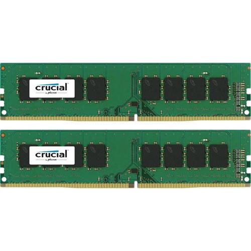 クルーシャル CT2K4G4DFS824A [8GB Kit (4GBx2) DDR4 2400 MT/s (PC4-19200) CL17 SR x8 Unbuffered DIMM 288pin]