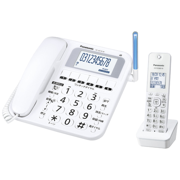 パナソニック RU・RU・RU(ル・ル・ル) VE-GE10DL-W [コードレス電話機(子機1台付)(ホワイト)]