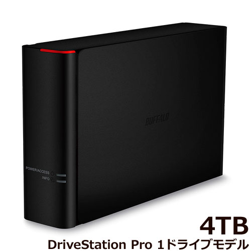 バッファロー DriveStation Pro HD-SH4TU3 [法人向け USB3.0 外付HDD 1ドライブ 4TB]