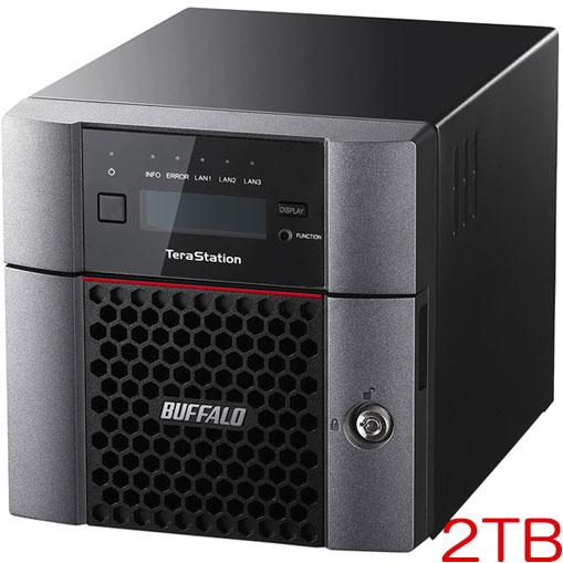 バッファロー TeraStation TS5210DN0202 [10GbE 法人向け 2ドライブNAS 2TB]