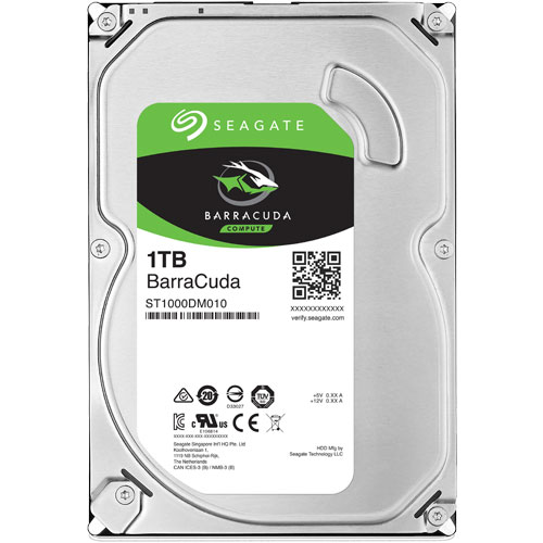 シーゲート ST1000DM010 [BarraCuda(1TB HDD 3.5インチ SATA 6G 7200rpm 64MB)]