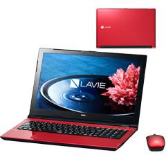 NEC PC-SN16CNSA8-1 [LAVIE Smart NS(e)(Cel-3855U 4G 500G 15.6 DSM マウス Win10 レッド)]