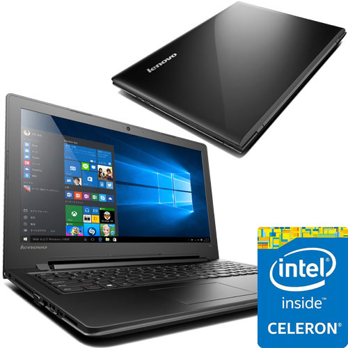 レノボ・ジャパン 80M300NWJP [ideapad 300(Cel-N3160 4G 500GB 15.6 Win10 Black)]
