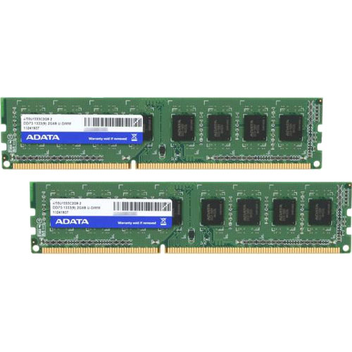 ADATA AD3U1333C2G9-2 [4GB(2GBx2枚組) DDR3 1333MHz(PC3-10600) 240Pin Unbuffered DIMM 256x8]